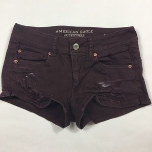 American Eagle Distressed Shortie Shorts Size 6